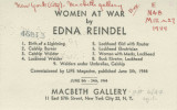 Women at war, by Edna Reindel