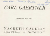 Carl Gaertner; December 1-31, 1952