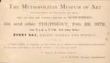 [Announcement of opening of temporary gallery, 681 Fifth Avenue, near 53rd Street, Feb. 22, 1872]