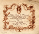 Mlle. Renée de Mirmont agrégée des Beaux-Arts and officier d'Académie in France requests the...