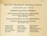 The New Society of American Artists cordially invites you to view its exhibition by charter members