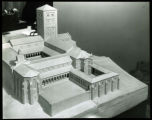 The new Cloisters building, model. Allen, Collins, and Willis